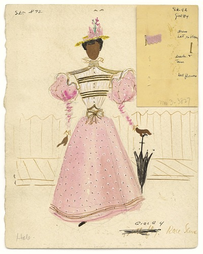 Image for Watercolor costume sketch by Lemuel Ayers for the musical, St. Louis Woman
