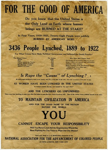 Image for Poster for the NAACP anti-lynching campaign