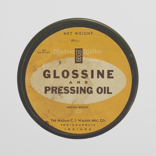 Image for Tin for Madame Walker Glossine and Pressing Oil