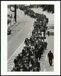 In a Show of Support that Brought Together Different Factions of the Movement, Civil Rights Leaders Joined Funeral Procession of NAACP Activist Medgar Evers, Jackson, Mississippi, 1963