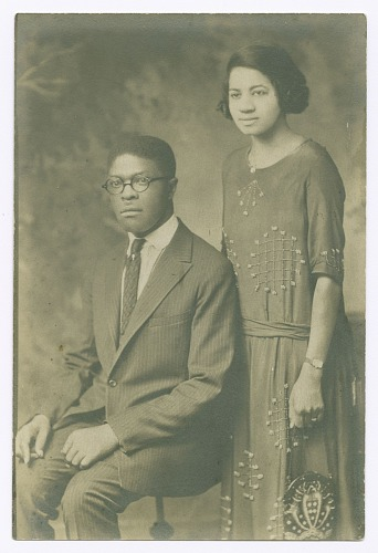 Image for Wedding portrait of Benjamin Boozé and Magdalene Hendricks Boozé