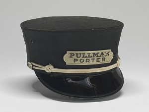images for Uniform cap worn by Pullman Porter Philip Henry Logan-thumbnail 1