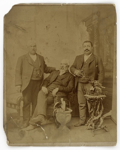 Image for Albumen print of three members of the Boyd family
