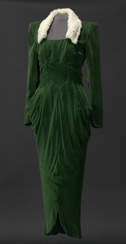 Image 1 for Green velvet dress worn by Lena Horne in the film Stormy Weather