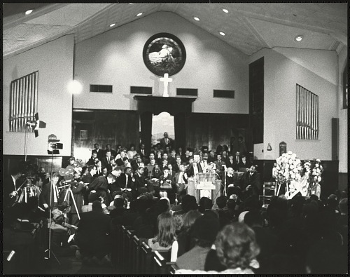 Image for Inside Ebenezer Baptist Church during first memorial to Dr. King, 1969