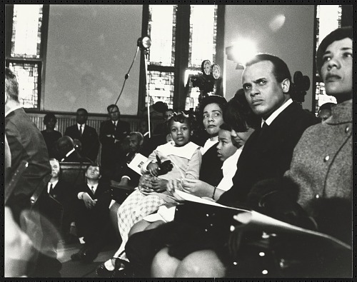 Image for Harry Belafonte Jr. seated with Coretta Scott King and her children