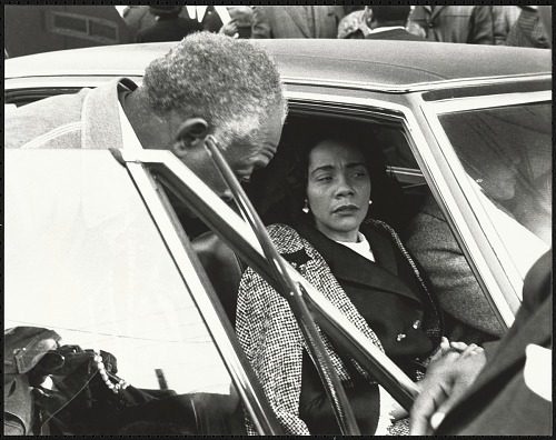 Image for Mrs. Coretta Scott King arrives at Ebenezer Baptist Church