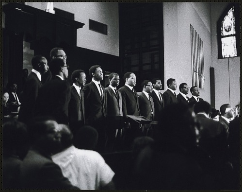 Image for Choral musical performance at the first birthday celebration of Martin Luther King, Jr.