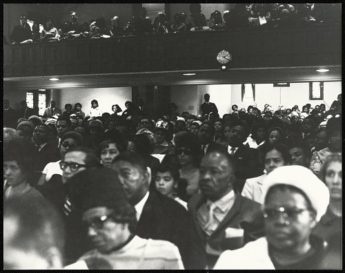 Image for Audience at First Memorial to Dr. Martin Luther King, Jr. held at Ebenezer Baptist, 1969