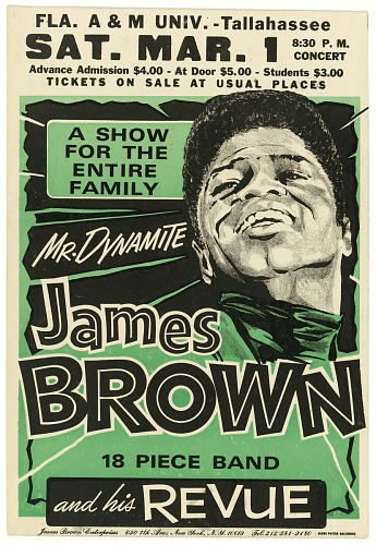 Image for Poster advertising a James Brown concert at Florida A&M University