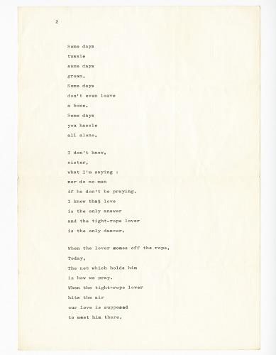 Poem Written To Paula Baldwin By James Baldwin National
