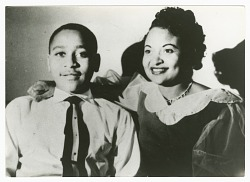Photograph of Emmett Till with his mother, Mamie Till Mobley