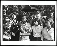 Birmingham, Alabama. SNCC Workers Outside the Funeral