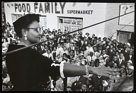 <I>Mamie Bradley speaking to anti-lynching rally after acquittal of men accused of killing her son, Emmett Till, Harlem, NY</I>