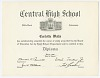 Thumbnail for Diploma for Carlotta Walls from Little Rock Central High School