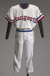 Texas Rangers baseball uniform jersey worn by Charley Pride