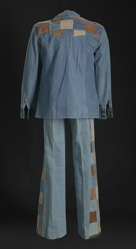 Image for Denim and suede suit jacket and bellbottoms worn by Charley Pride