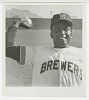 Thumbnail for Gelatin silver print of Charley Pride wearing a Milwaukee Brewers uniform