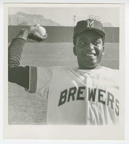 Image for Gelatin silver print of Charley Pride wearing a Milwaukee Brewers uniform