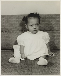 Studio portrait of a baby