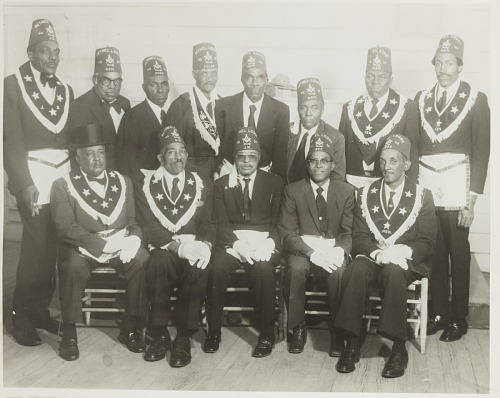 Image for Group portrait of men in Masonic costume