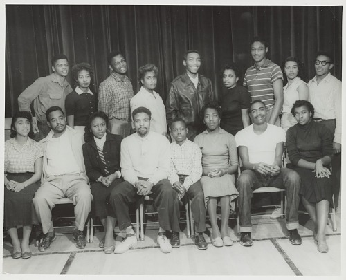 Image for Group portrait of The Player Guild drama club at Mississippi Vocational College