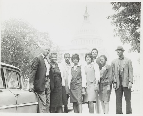 Image for Group portrait of men and women in front of the U. S. Capitol