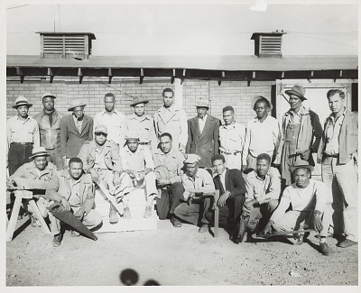 Group portrait of carpentry class