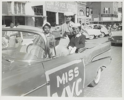 Portrait of Miss MVC during the homecoming parade