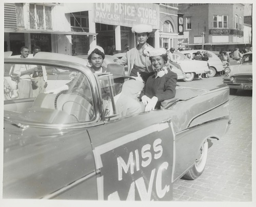 Image for Portrait of Miss MVC during the homecoming parade