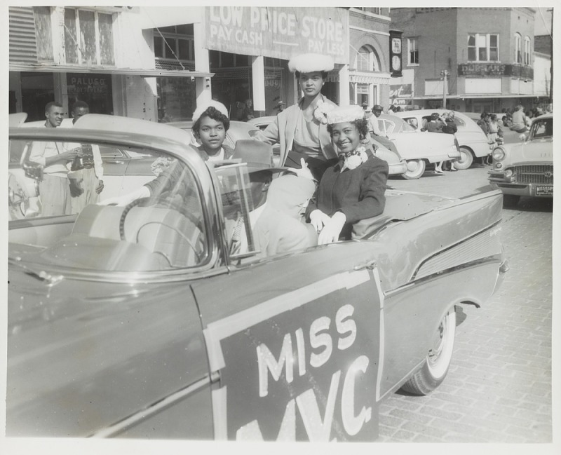 Image 1 for Portrait of Miss MVC during the homecoming parade