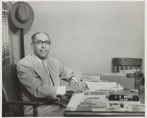 Image for Indoor portrait of J.H. White at his desk