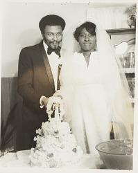 Wedding portrait of couple
