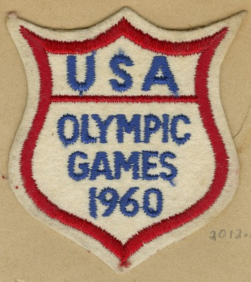 USA Olympic patch for the 1960 Summer Games in Rome owned by Dick Howard