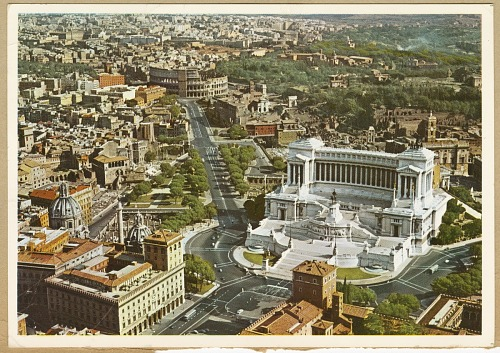 Image for Postcard of the Vittoriano and Colosseum in Rome owned by Dick Howard