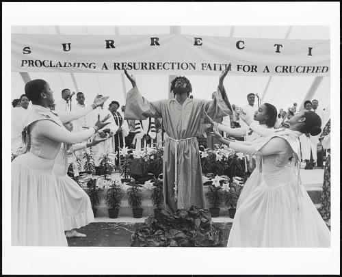 Image for The Resurrection reenacted by members of Metropolitan Baptist Church, Washington, D.C. 1997