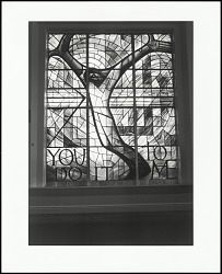 Stained-glass window given by the people of Wales adorns the balcony of the historical Sixteenth Street Baptist Church (site of a fatal1963 bombing), Birmingham, Alabama, 1996