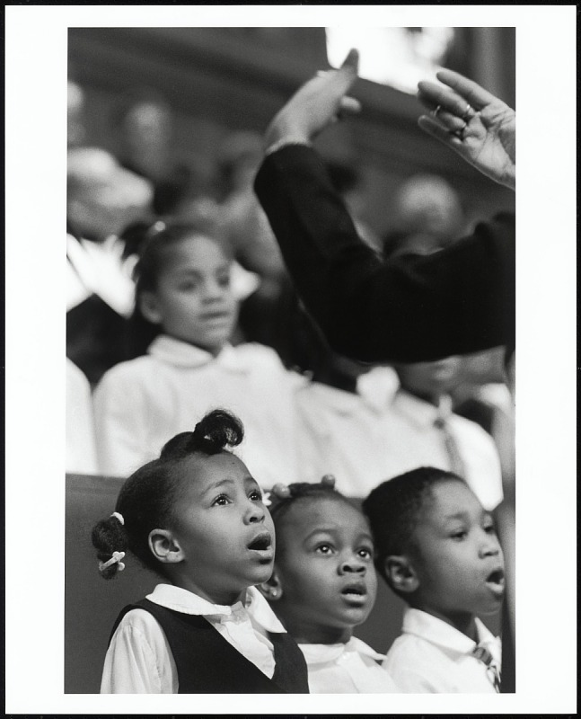 Image for The children's choir of Shiloh Baptist Church, Washington, D.C., 1998