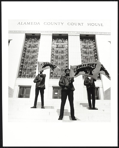 Image for Black Panther demonstration, Alameda Co. Court House, Oakland, California, during Huey Newton's trial, #71