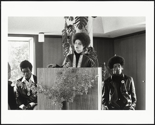 Image for Kathleen Cleaver addresses the congregation of the Unitarian Church, San Rafael, California, #120