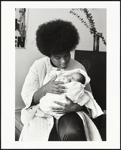 Image for Black Panther mother and her newborn son, Baby Jesus X, San Francisco, California, No. 125