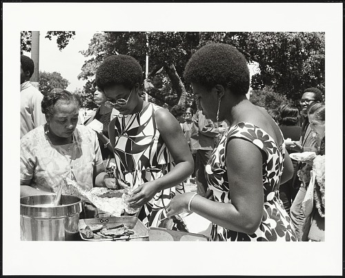 Image for Serving Barbecue at the Free Huey Rally, De Fremery Park, Oakland, California, #34