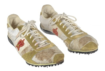 Track shoes worn by Carl Lewis