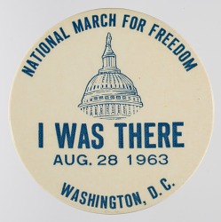 Pinback button for the 1963 Freedom March
