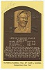 Thumbnail for Postcard of Satchel Paige Baseball Hall of Fame plaque