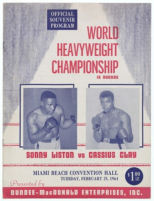 Program for World Heavyweight Championship, Sonny Liston vs. Cassius Clay