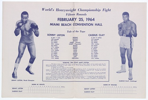 Image for Program for World Heavyweight Championship, Sonny Liston vs. Cassius Clay