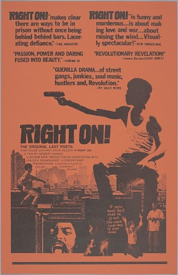 Poster for the film Right On!