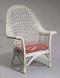 Wicker chair from Shearer Cottage