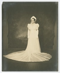 Wedding portrait of Lollaretta Pemberton